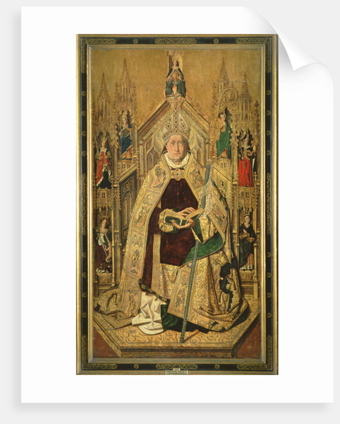 St. Dominic enthroned as Abbot of Silos by Bermejo