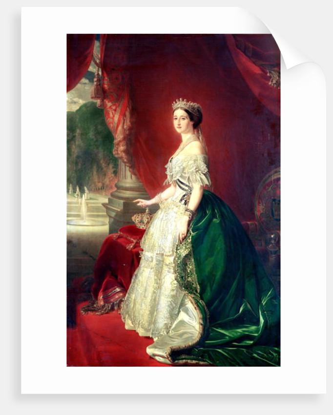 Empress Eugenie of France wife of Napoleon Bonaparte III by Franz Xaver Winterhalter