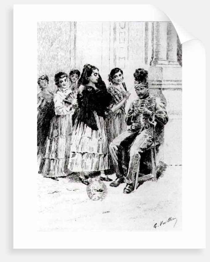 'Carmen'by Prosper Merimee illustrated by Eugene Decisy by Gaston Vuillier