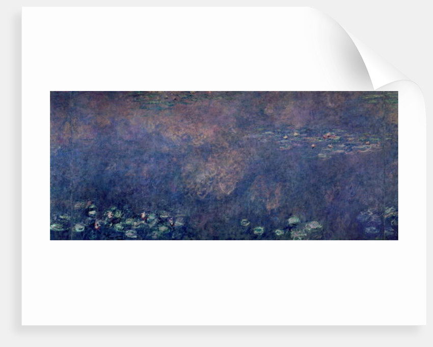 Waterlilies: Two Weeping Willows, centre left section by Claude Monet