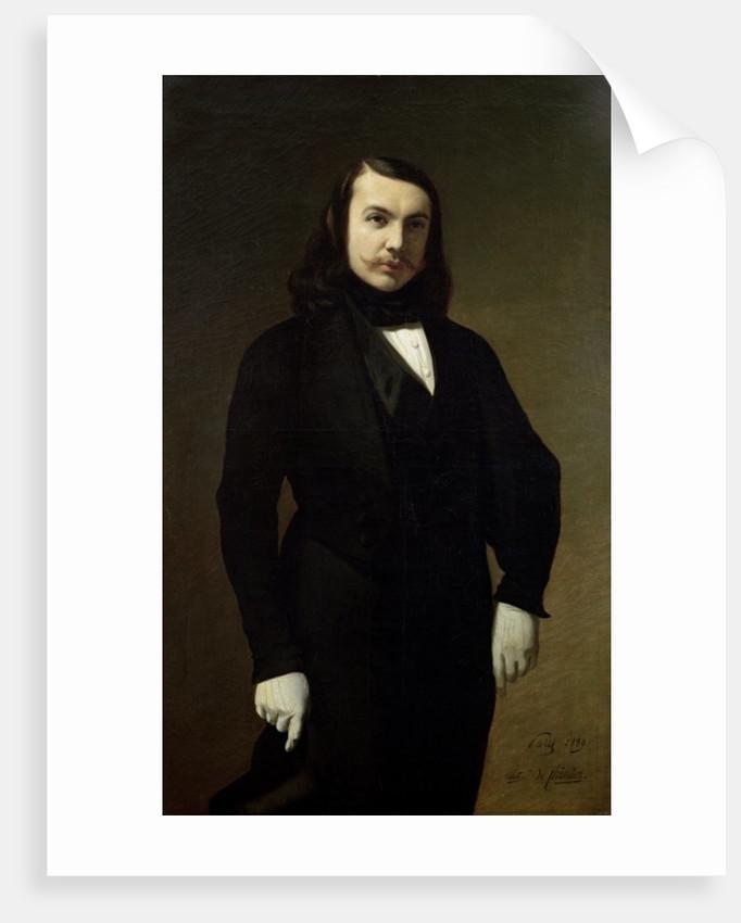 Portrait of Theophile Gautier by Auguste de Chatillon