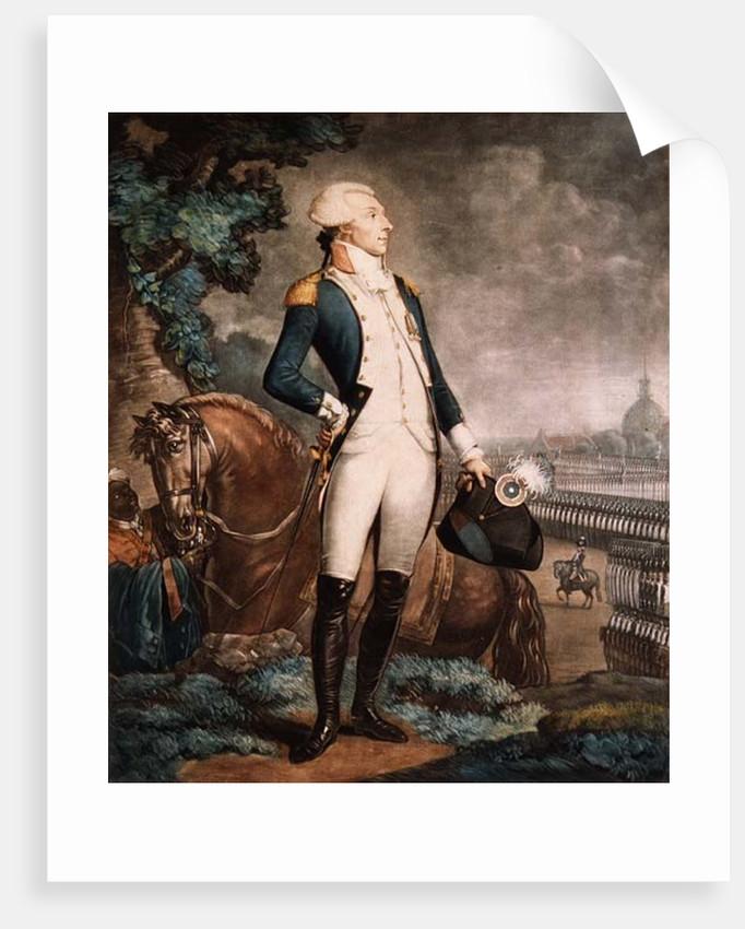 Portrait of the Marquis de La Fayette commander of the National Guard by Philibert-Louis Debucourt