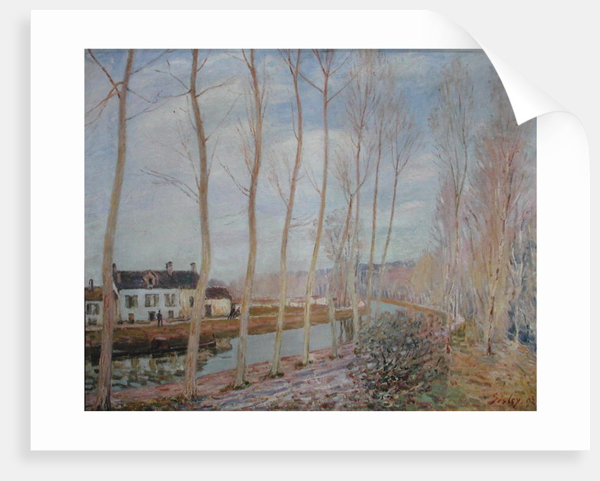 The Loing Canal by Alfred Sisley