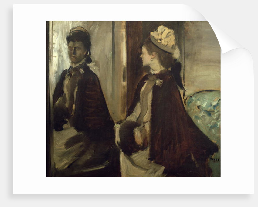 Madame Jeantaud in the mirror by Edgar Degas