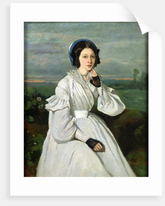 Portrait of Louise Claire Sennegon, future Madame Charmois by Jean Baptiste Camille Corot