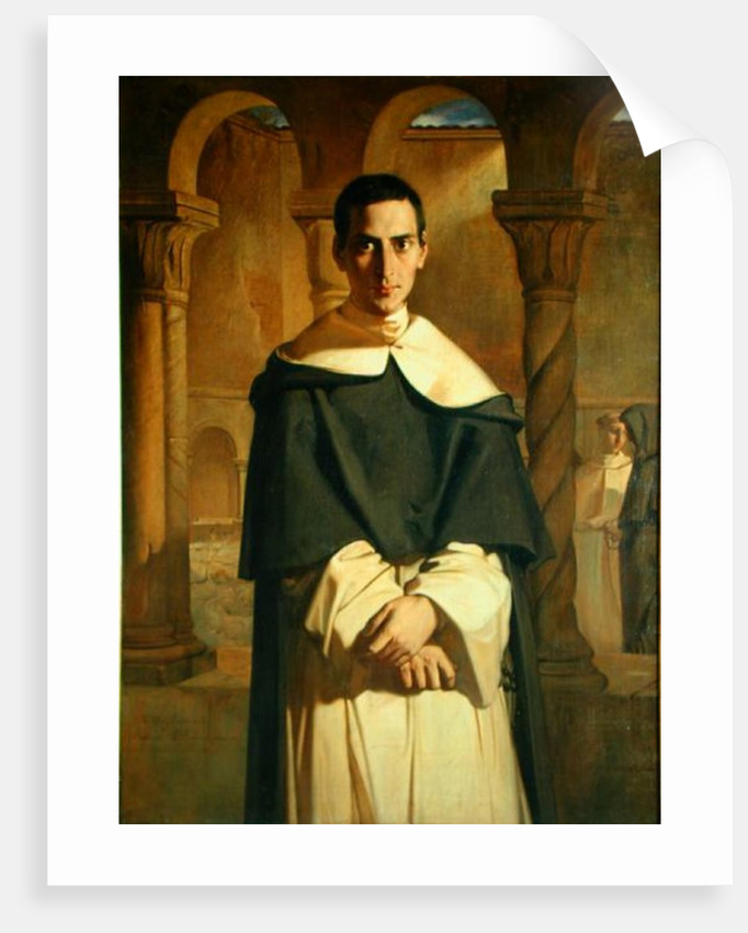 Portrait of Jean Baptiste Henri Lacordaire, French prelate and theologian by Theodore Chasseriau