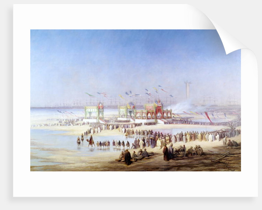 The Inauguration of the Suez Canal by the Empress Eugenie by Edouard Riou