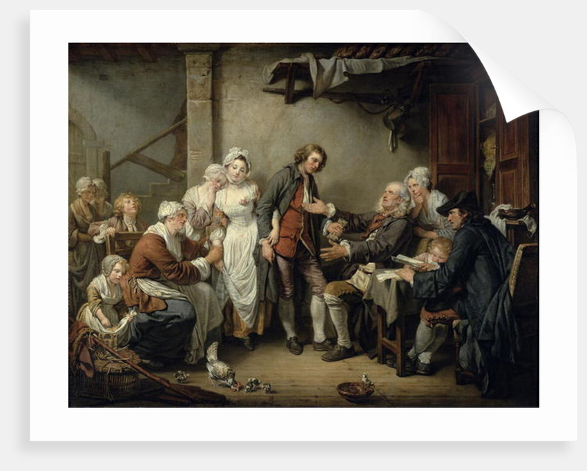 The Village Agreement by Jean Baptiste Greuze