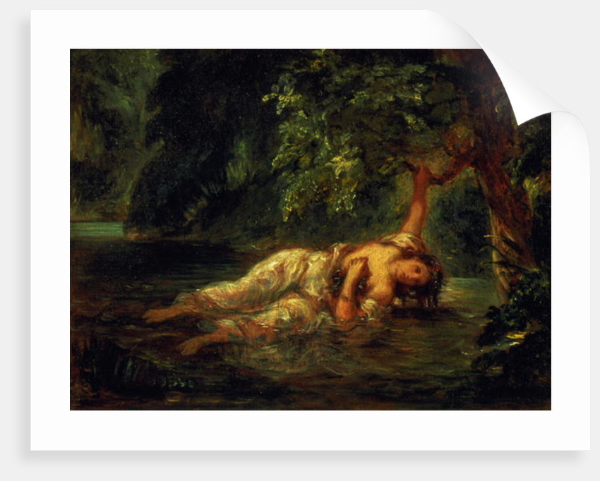 The Death of Ophelia by Ferdinand Victor Eugene Delacroix