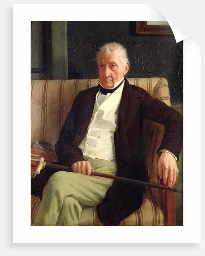 Portrait of Hilaire Degas, grandfather of the artist by Edgar Degas