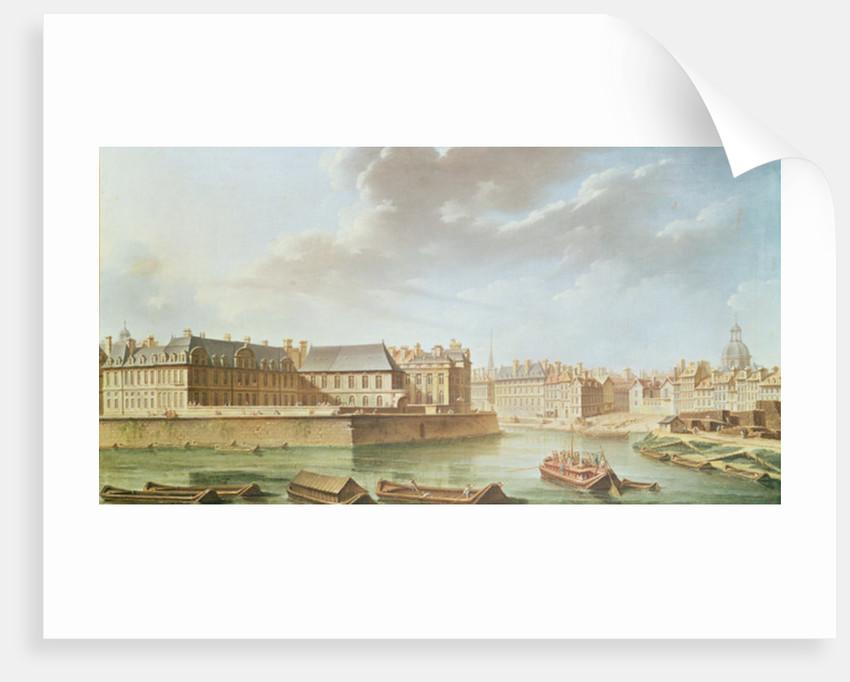 The Ile Saint-Louis and the Hotel de Bretonvilliers in 1757 by Nicolas & Jean Baptiste Raguenet