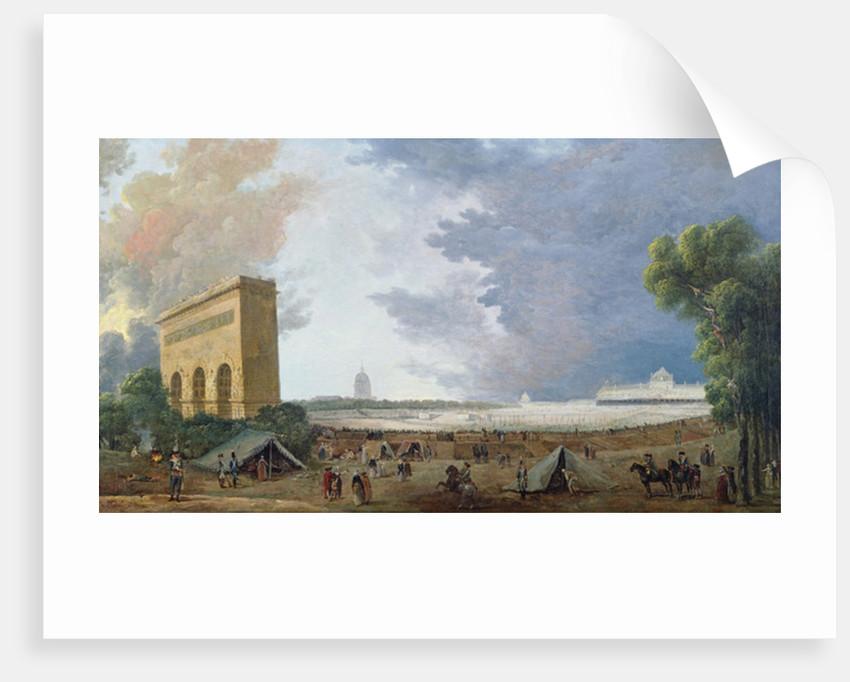 Fête de la Fédération on the Champ de Mars by Hubert Robert