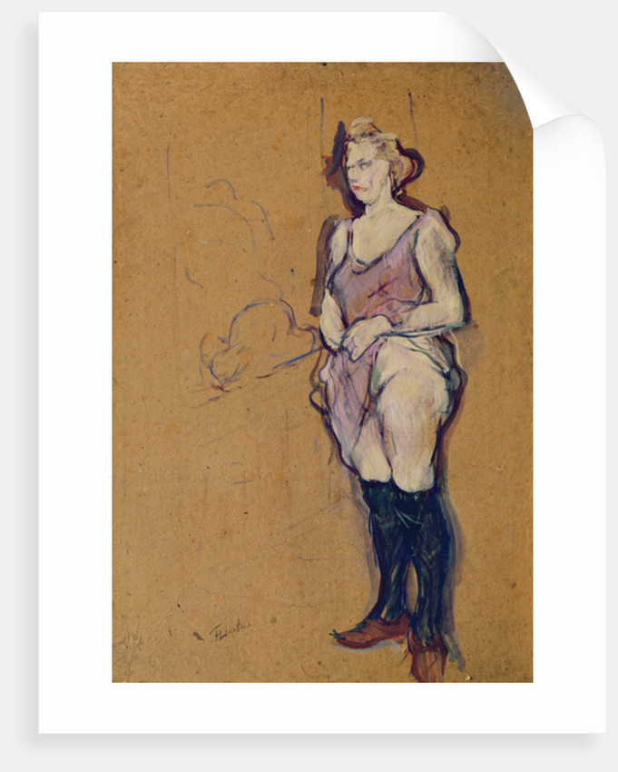 Woman holding her Dress or Woman in a Brothel by Henri de Toulouse-Lautrec