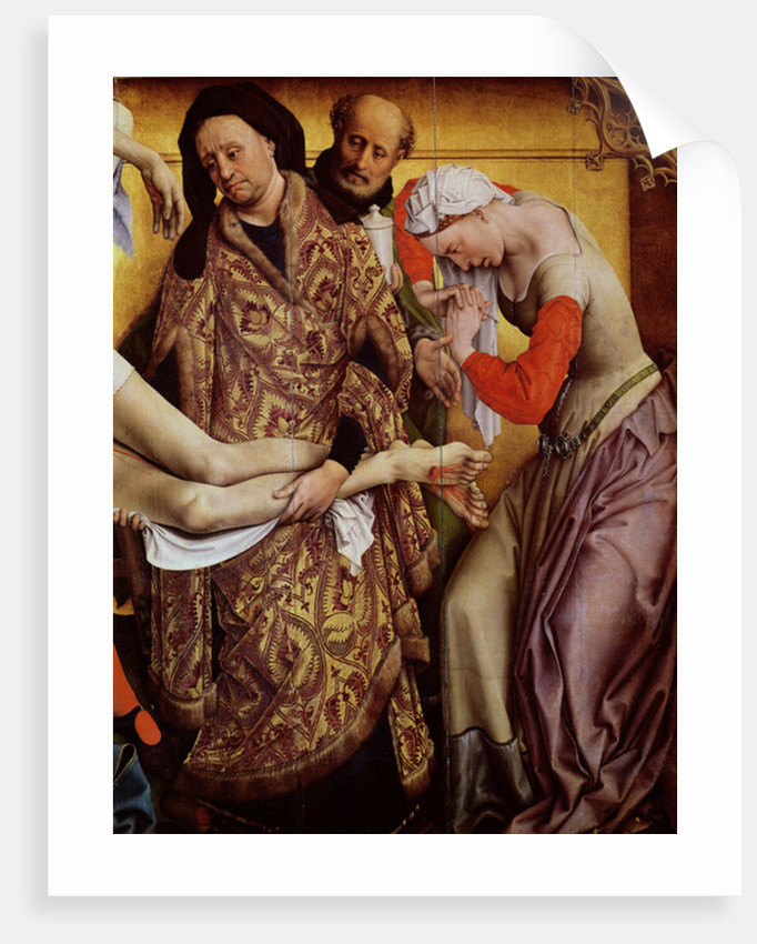 The Descent from the Cross (detail of Mary Magdalene and Joseph of Arimathea) by Rogier van der Weyden
