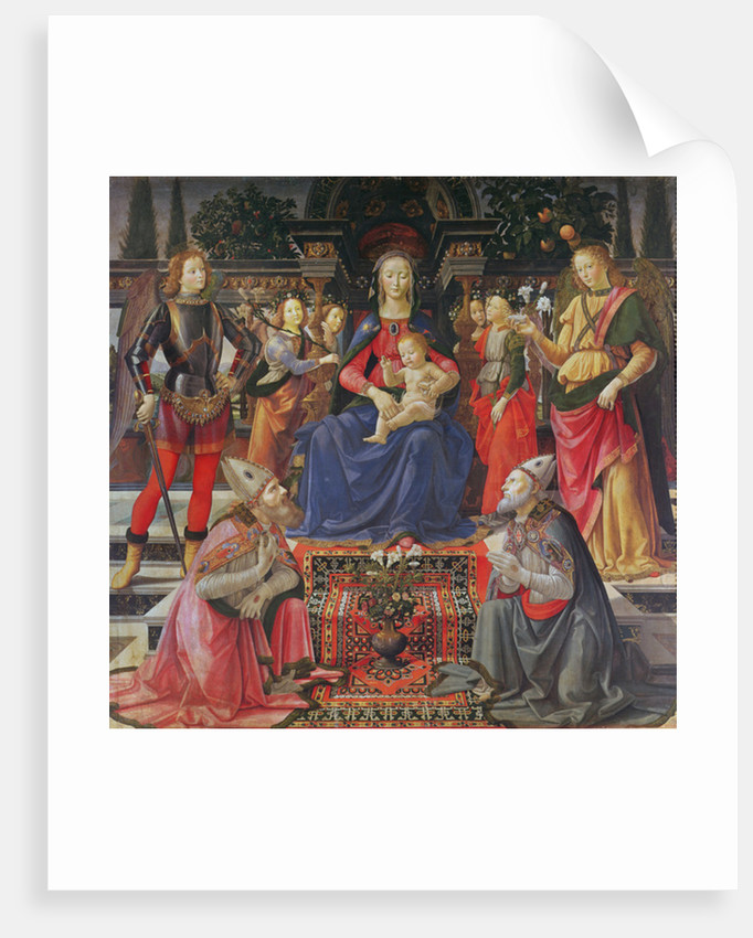 Madonna and Child with SS. Justus, Zenobius and the Archangels Michael and Raphael by Domenico Ghirlandaio