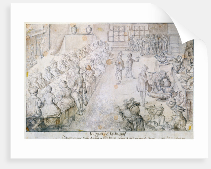 Banquet at the Sandricourt Tournament in 1493 by French School