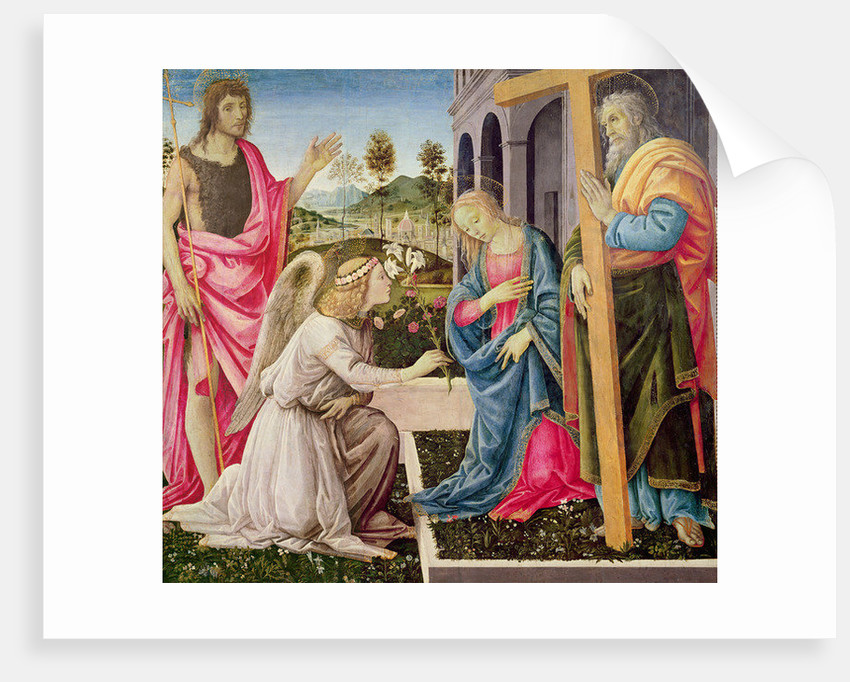 Annunciation with St. Joseph and St. John the Baptist by Filippino Lippi