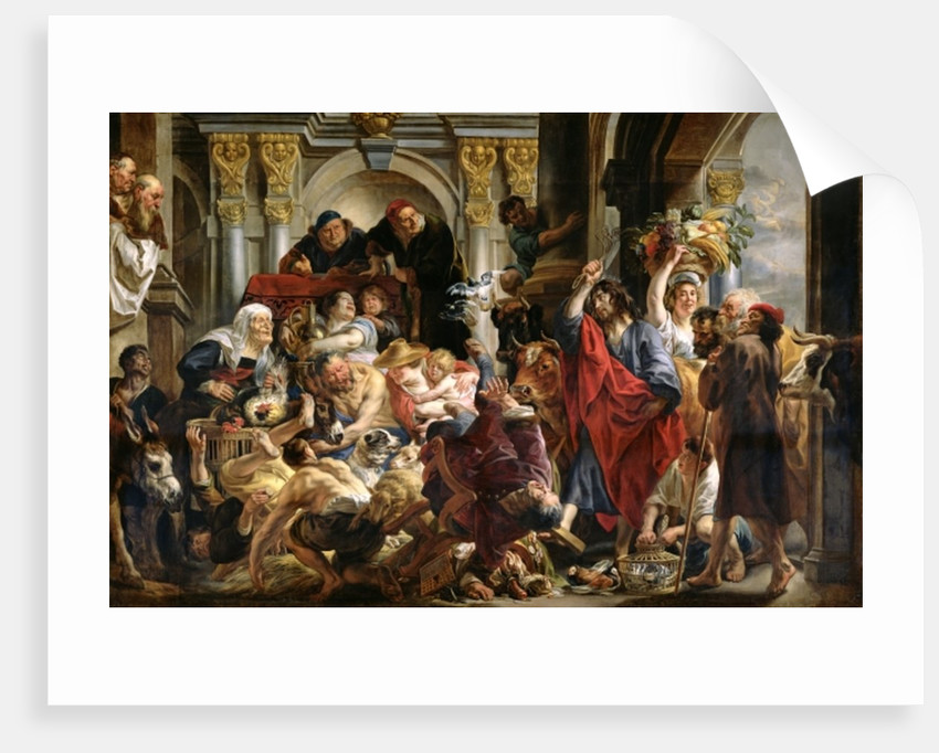 Christ Driving the Merchants from the Temple by Jacob Jordaens