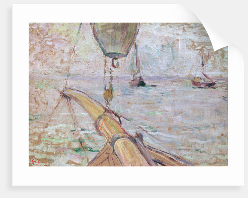 View of Arcachon from the Front of the Yacht Cocorico by Henri de Toulouse-Lautrec