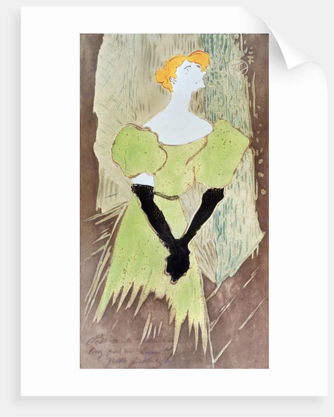 Yvette Guilbert, Music-Hall Singer by Henri de Toulouse-Lautrec