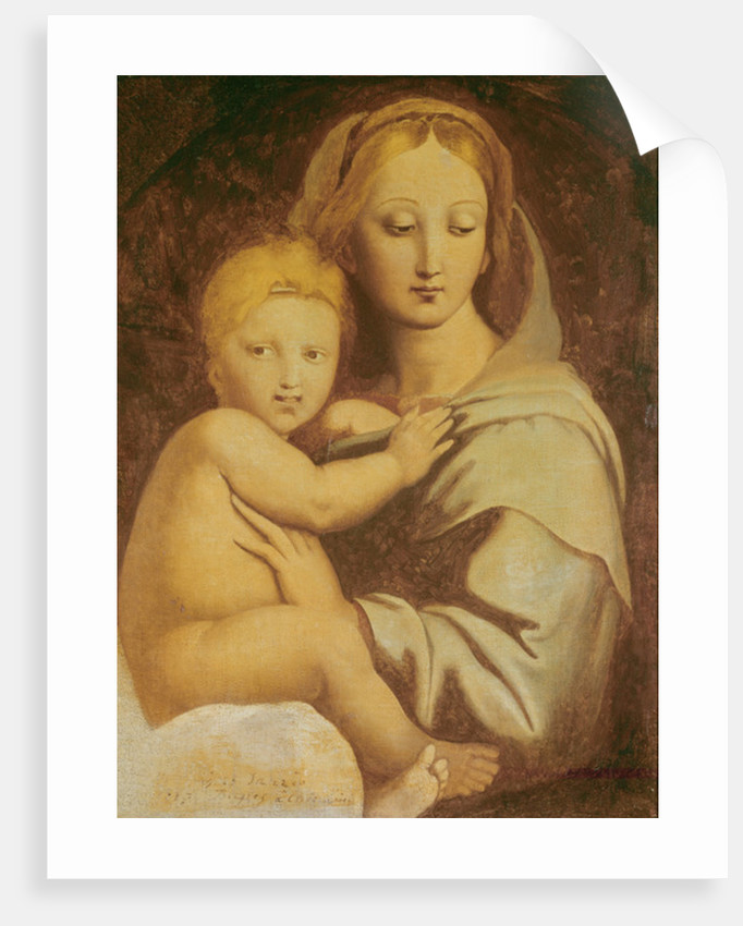 Madonna of the Candelabra by Jean Auguste Dominique Ingres