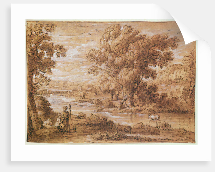 Shepherd and Shepherdess by Claude Lorrain