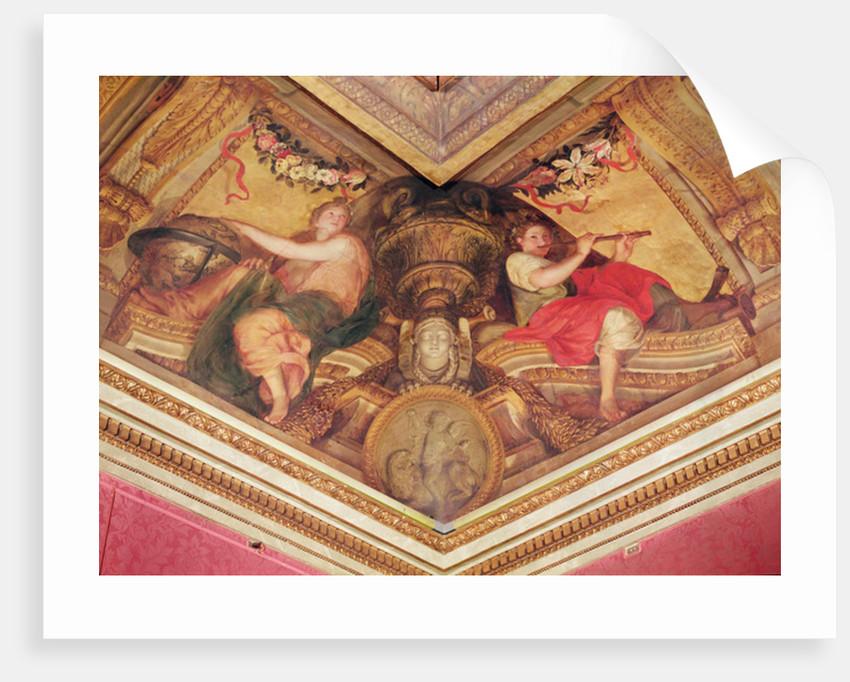 Ceiling of the Hôtel de l'Abbé de La Rivière: Urania and Euterpe by Charles Le Brun
