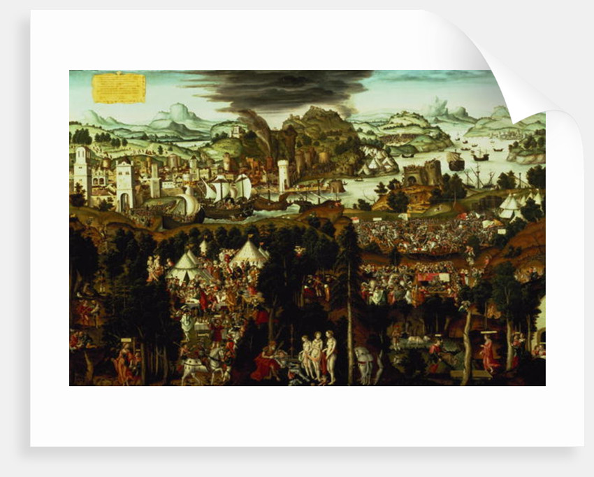 The Judgement of Paris and the Trojan War by Matthias Gerung or Gerou