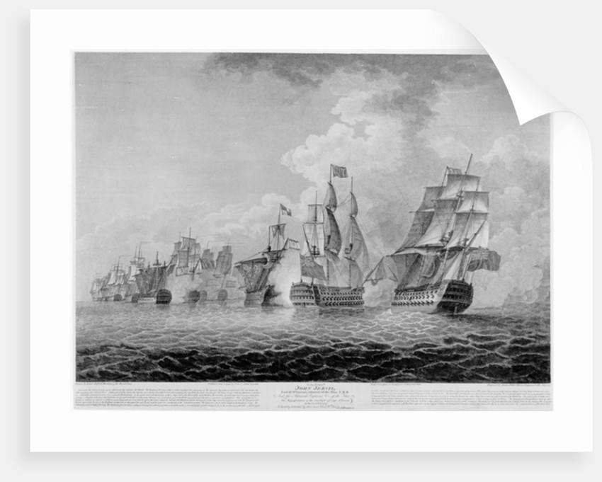 H.M.S.'Victory' bearing up in order to rake the 'Salvador del Munde', sea fight off Cape St. Vincent in 1797 by Jahleel Brenton