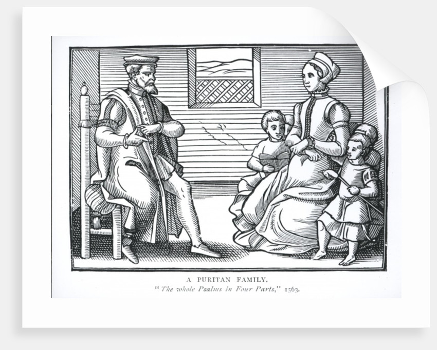A Puritan Family by English School