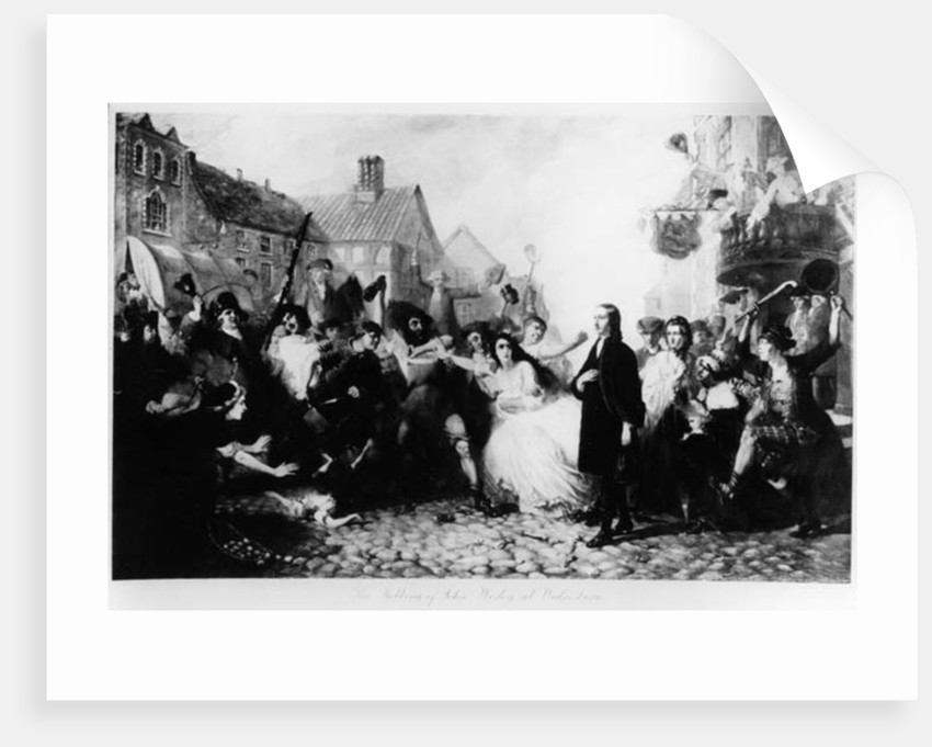 The Mobbing of John Wesley at Wednesbury by English School