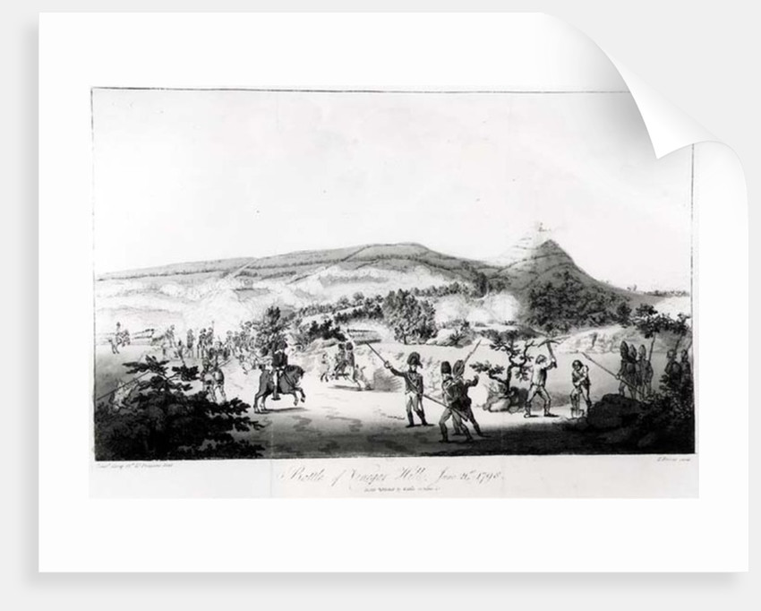The Battle of Vinegar Hill, June 21st 1798, engraved by Henry Brocas by Lieutenant Carey