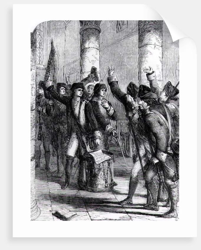 A Meeting of the Irish Volunteers in the Church of Dungannon, in 1784 by English School