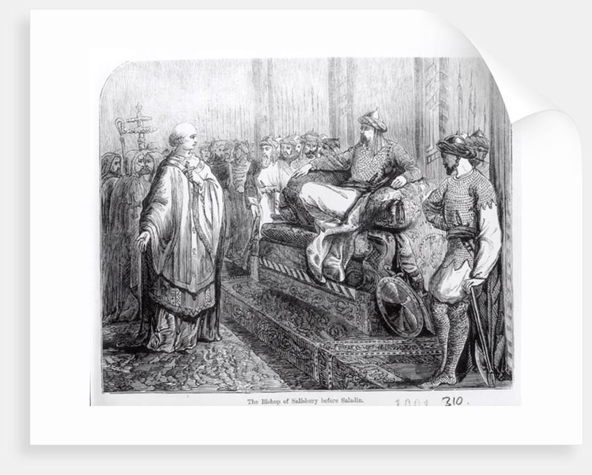 The Bishop of Salisbury before Saladin by English School