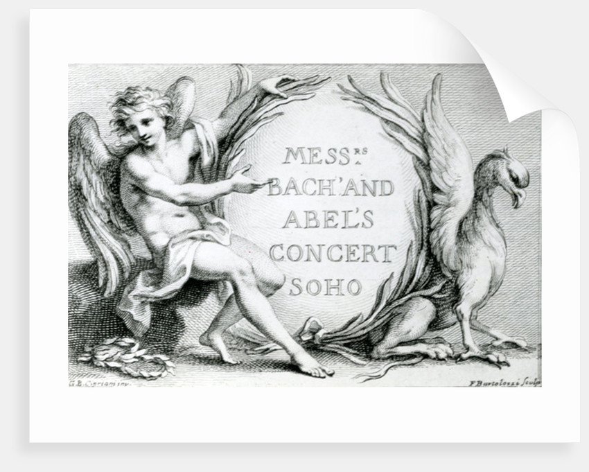 Bach and Abel's Concert Soho by Francesco Bartolozzi