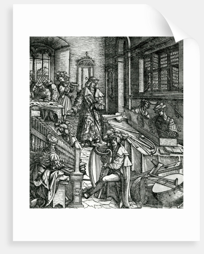 History of Music by Hans Burgkmair