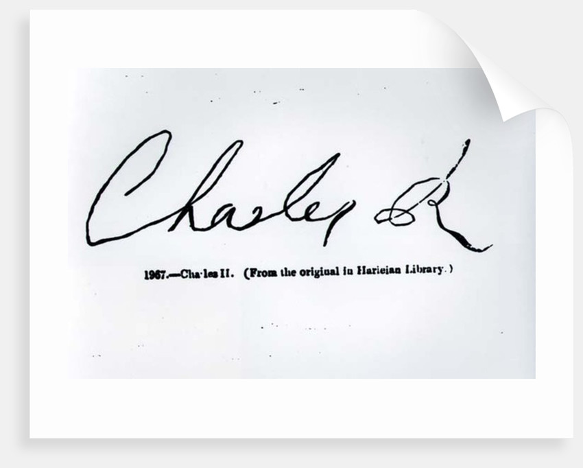Signature of Charles II by Unknown