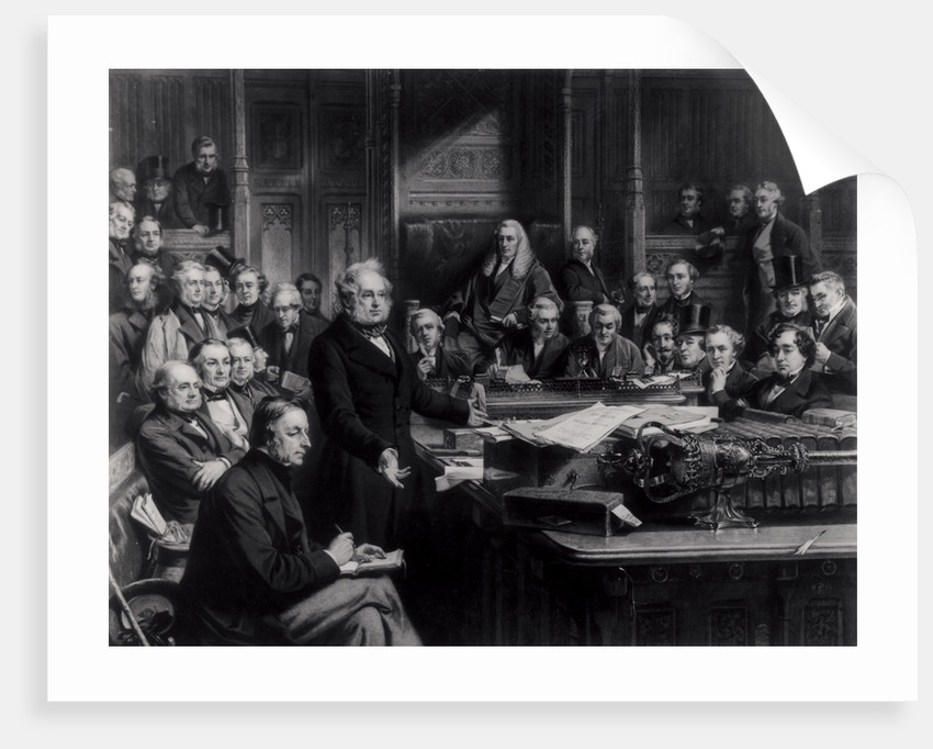 The House of Commons in 1860: Lord Palmerston Addressing the House during the Debate on the Treaty with France by John Phillip
