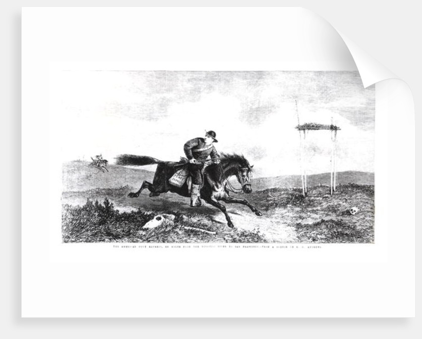 The American Pony Express, En Route from the Missouri River to San Francisco by George Henry Andrews
