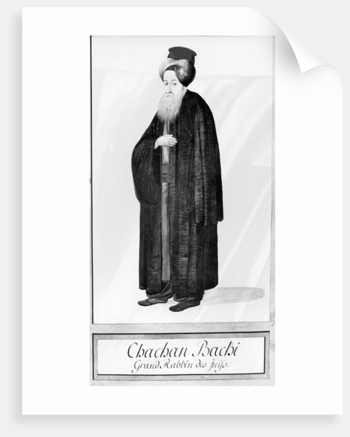 Chachan Bachi, the Chief Rabbi of Istanbul by Ottoman School