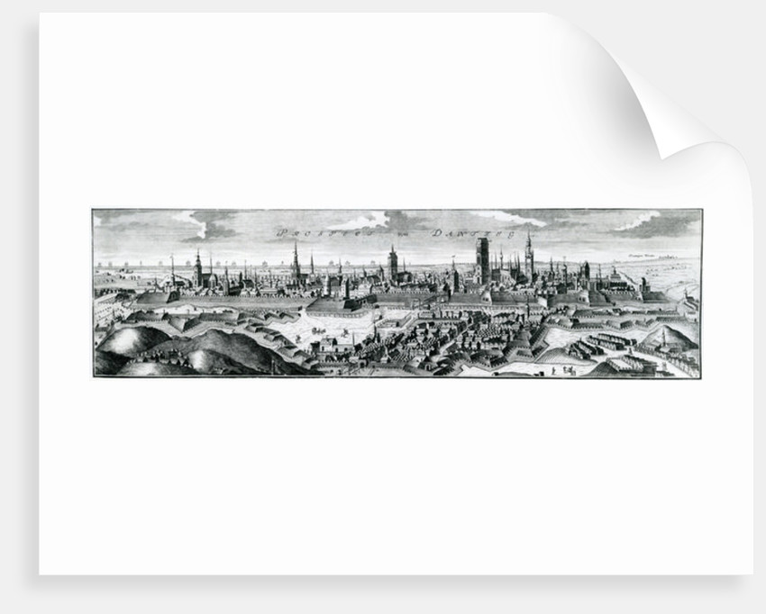 Panoramic view of Danzig (Gdansk) by German School