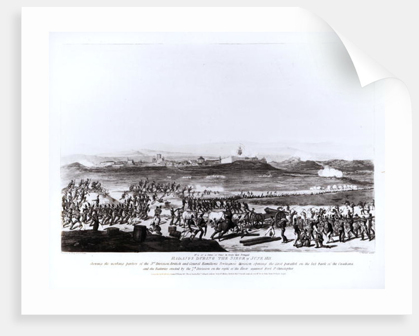 Badajos During the Siege of June 1811 by Thomas Staunton St. Clair