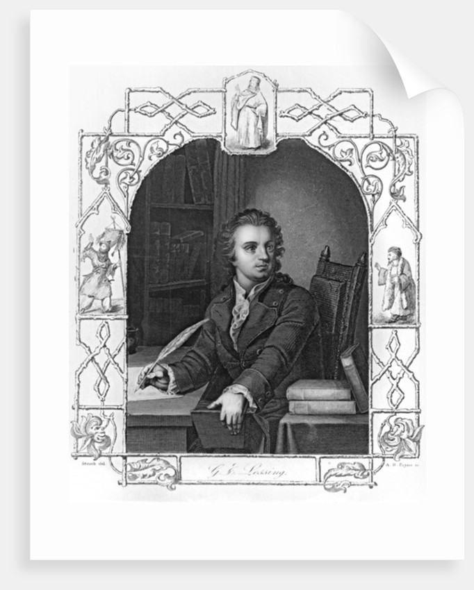 Gotthold Ephraim Lessing engraved by Albert Henry Payne by Storck