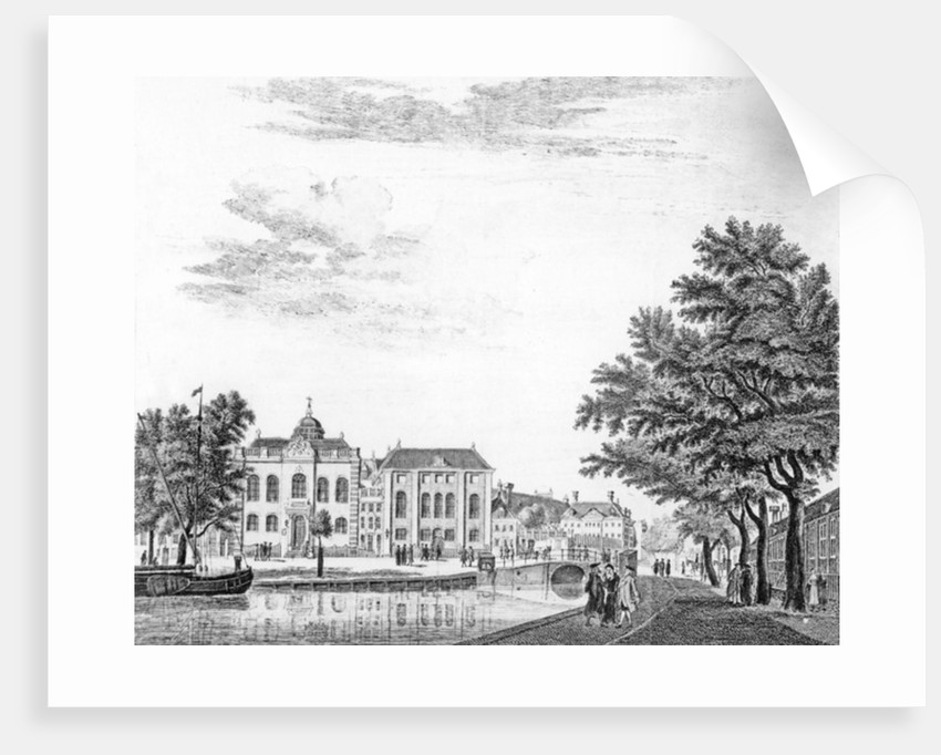 The Two Large Synagogues of German Jews in Amsterdam, Netherlands by Jan de Beijer