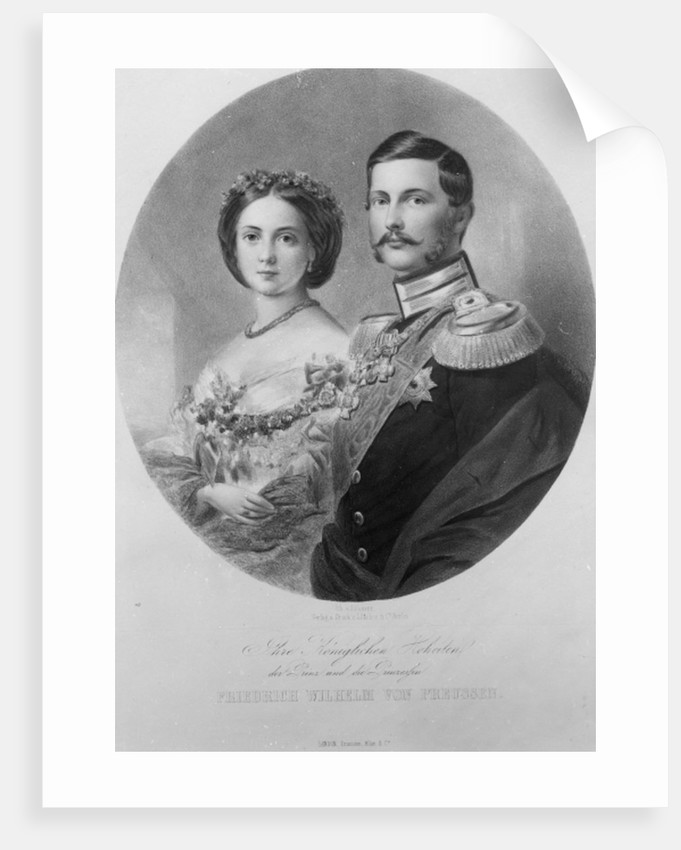 Wedding Portrait of Their Royal Highnesses Princess Victoria and Crown Prince Frederick William of Prussia by German School