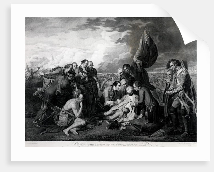 The Death of General Wolfe Art Print//Poster Benjamin West