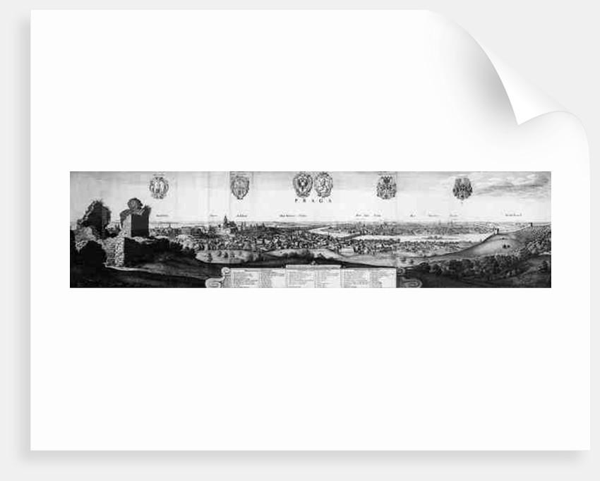 View of Prague by Wenceslaus Hollar