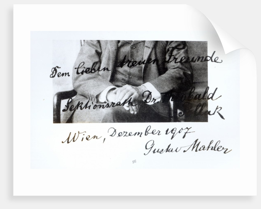 Extract from a letter from Gustav Mahler, December 1907 by Unknown
