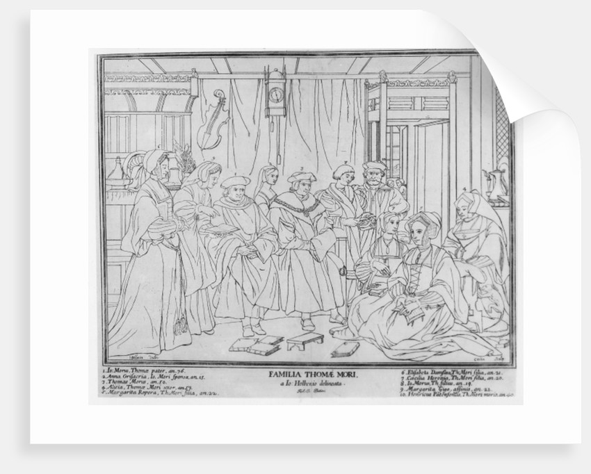 The Family of Thomas More, Chancellor of England by Hans Holbein The Younger