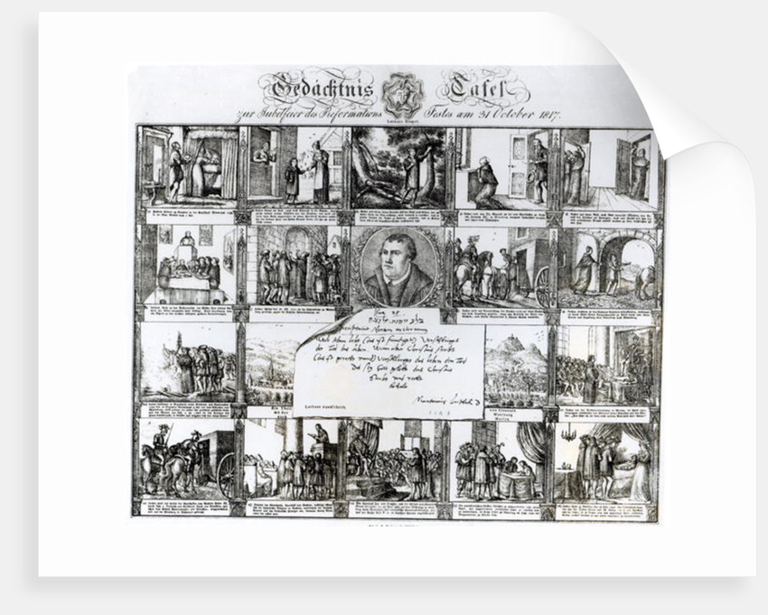 A Feast to Celebrate the Reformation on 31 October 1817: The Life of Martin Luther by German School